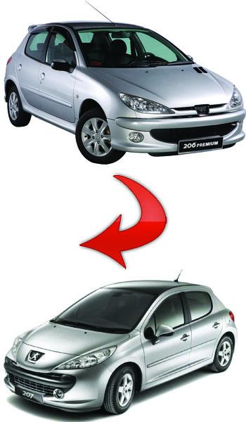 Peugeot 206 to Peugeot 206+ - Peugeot%20207i - پژو 207i - پژو 206+